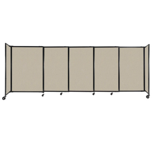 """StraightWall Sliding Portable Partition 11'3"""" x 4' Sand Fabric"""