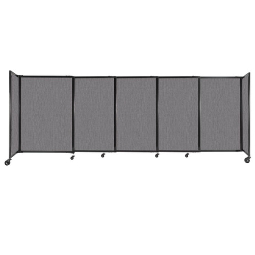 """StraightWall Sliding Portable Partition 11'3"""" x 4' Slate Fabric"""