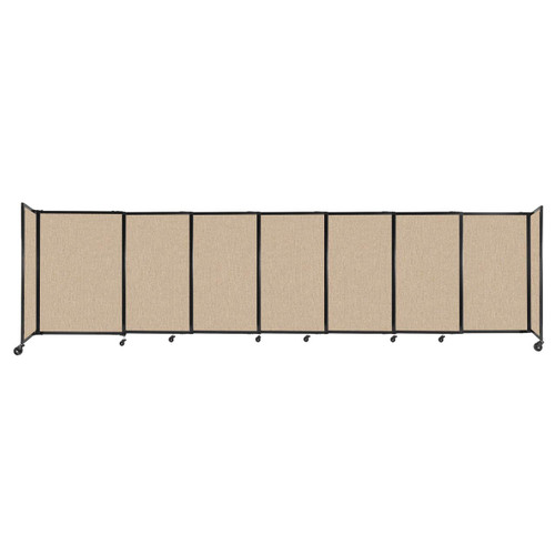 """StraightWall Sliding Portable Partition 15'6"""" x 4' Beige Fabric"""