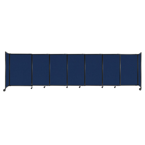 """StraightWall Sliding Portable Partition 15'6"""" x 4' Navy Blue Fabric"""