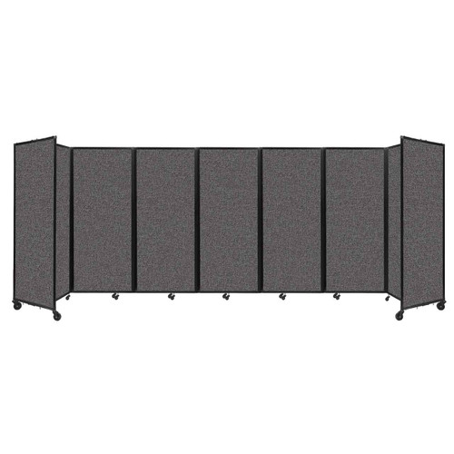 """Room Divider 360 Folding Portable Partition 19'6"""" x 6'10"""" Charcoal Gray Fabric"""