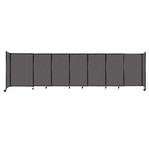 """StraightWall Sliding Portable Partition 15'6"""" x 4' Charcoal Gray Fabric"""