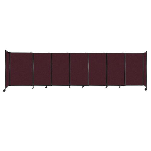 """StraightWall Sliding Portable Partition 15'6"""" x 4' Cranberry Fabric"""