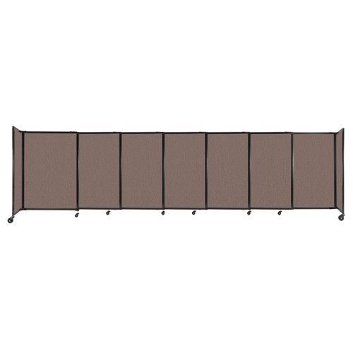 """StraightWall Sliding Portable Partition 15'6"""" x 4' Latte Fabric"""