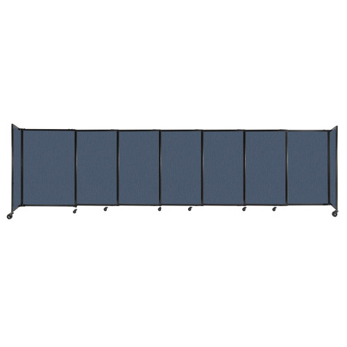 """StraightWall Sliding Portable Partition 15'6"""" x 4' Ocean Fabric"""
