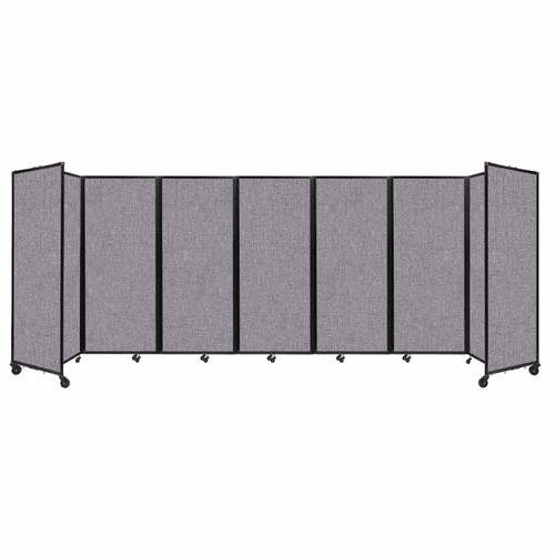 """Room Divider 360 Folding Portable Partition 19'6"""" x 6'10"""" Cloud Gray Fabric"""
