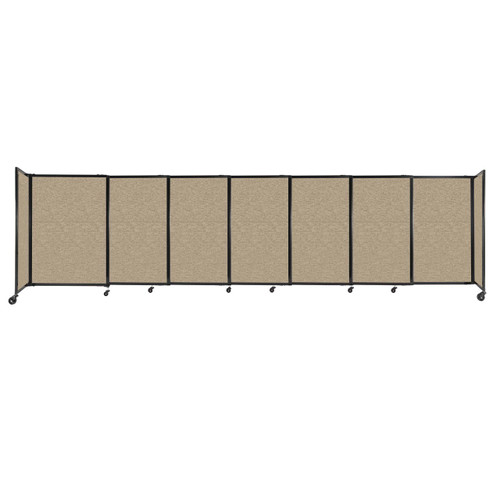 """StraightWall Sliding Portable Partition 15'6"""" x 4' Rye Fabric"""