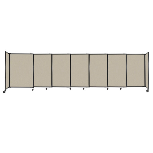 """StraightWall Sliding Portable Partition 15'6"""" x 4' Sand Fabric"""
