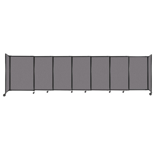 """StraightWall Sliding Portable Partition 15'6"""" x 4' Slate Fabric"""