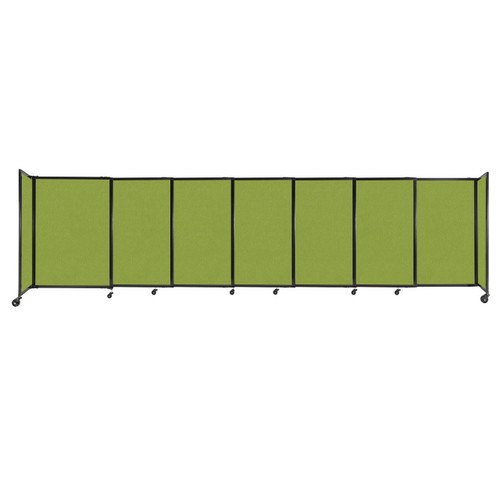 """StraightWall Sliding Portable Partition 15'6"""" x 4' Lime Green Fabric"""