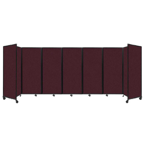 """Room Divider 360 Folding Portable Partition 19'6"""" x 6'10"""" Cranberry Fabric"""