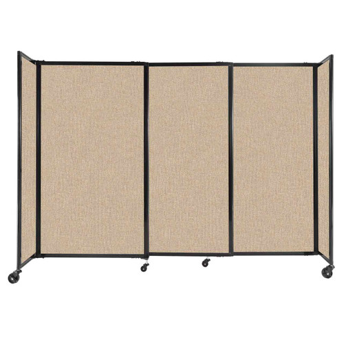 """StraightWall Sliding Portable Partition 7'2"""" x 5' Beige Fabric"""