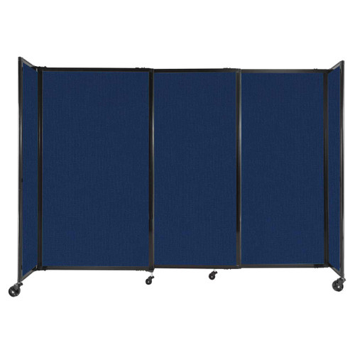 """StraightWall Sliding Portable Partition 7'2"""" x 5' Navy Blue Fabric"""