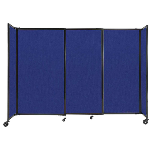 """StraightWall Sliding Portable Partition 7'2"""" x 5' Royal Blue Fabric"""