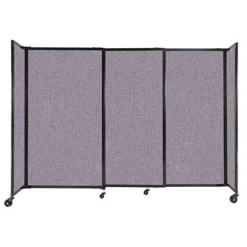 """StraightWall Sliding Portable Partition 7'2"""" x 5' Cloud Gray Fabric"""