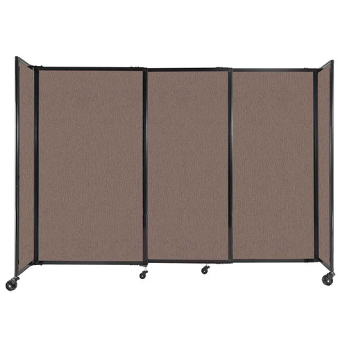 """StraightWall Sliding Portable Partition 7'2"""" x 5' Latte Fabric"""
