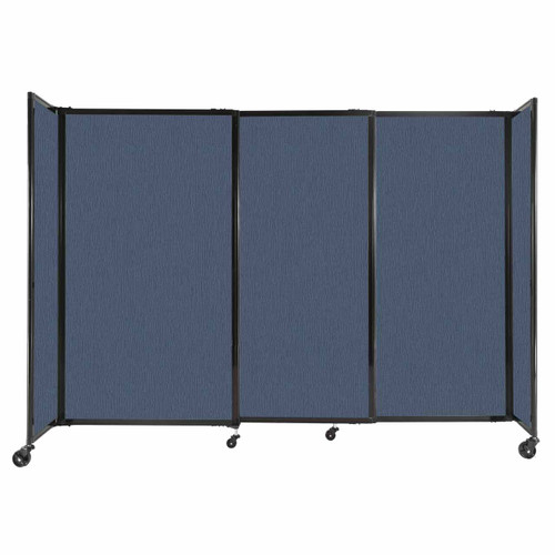 """StraightWall Sliding Portable Partition 7'2"""" x 5' Ocean Fabric"""