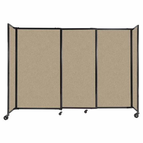 """StraightWall Sliding Portable Partition 7'2"""" x 5' Rye Fabric"""