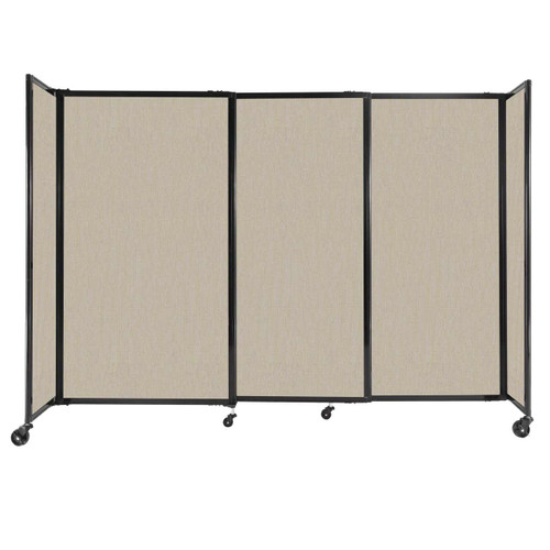 """StraightWall Sliding Portable Partition 7'2"""" x 5' Sand Fabric"""