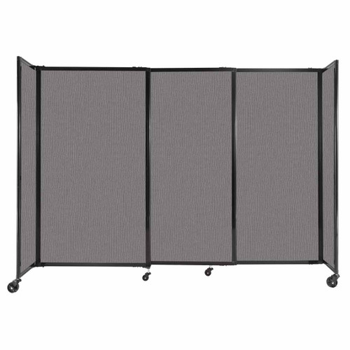 """StraightWall Sliding Portable Partition 7'2"""" x 5' Slate Fabric"""