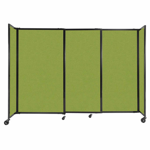 """StraightWall Sliding Portable Partition 7'2"""" x 5' Lime Green Fabric"""