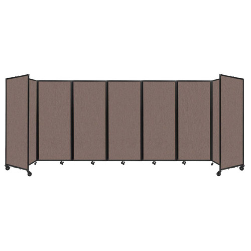 """Room Divider 360 Folding Portable Partition 19'6"""" x 6'10"""" Latte Fabric"""