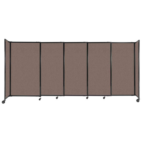 """StraightWall Sliding Portable Partition 11'3"""" x 5' Latte Fabric"""