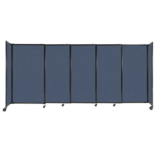 """StraightWall Sliding Portable Partition 11'3"""" x 5' Ocean Fabric"""