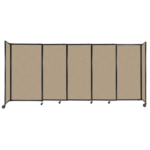 """StraightWall Sliding Portable Partition 11'3"""" x 5' Rye Fabric"""