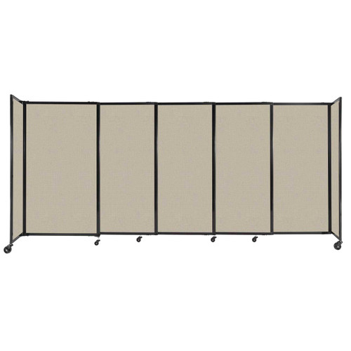 """StraightWall Sliding Portable Partition 11'3"""" x 5' Sand Fabric"""