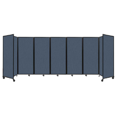 """Room Divider 360 Folding Portable Partition 19'6"""" x 6'10"""" Ocean Fabric"""