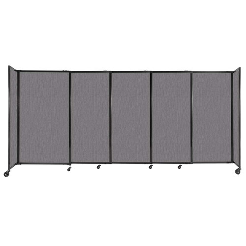 """StraightWall Sliding Portable Partition 11'3"""" x 5' Slate Fabric"""