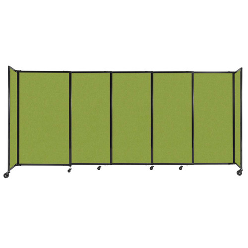"""StraightWall Sliding Portable Partition 11'3"""" x 5' Lime Green Fabric"""