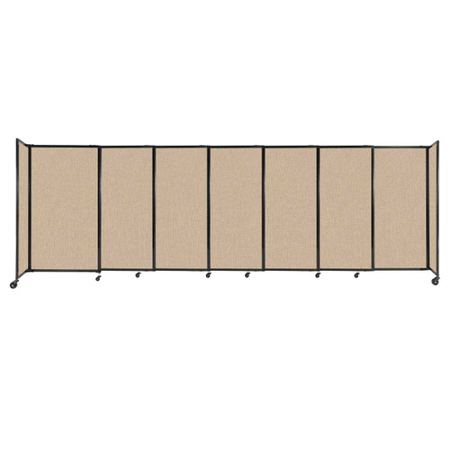 """StraightWall Sliding Portable Partition 15'6"""" x 5' Beige Fabric"""