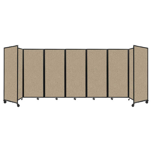 """Room Divider 360 Folding Portable Partition 19'6"""" x 6'10"""" Rye Fabric"""