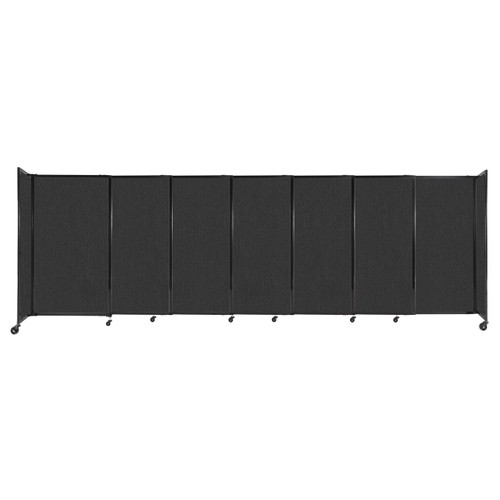 """StraightWall Sliding Portable Partition 15'6"""" x 5' Black Fabric"""