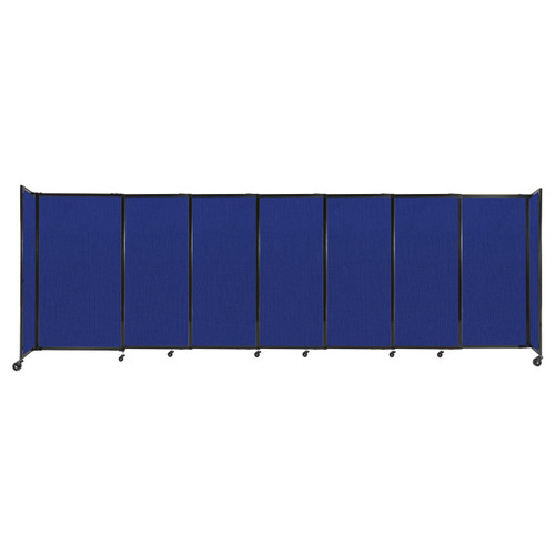 """StraightWall Sliding Portable Partition 15'6"""" x 5' Royal Blue Fabric"""