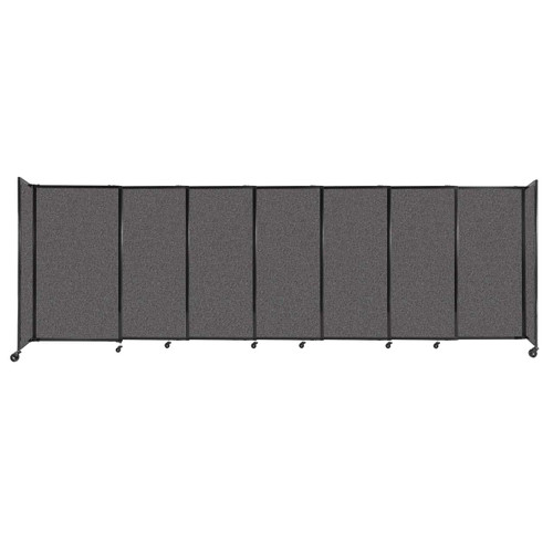 """StraightWall Sliding Portable Partition 15'6"""" x 5' Charcoal Gray Fabric"""