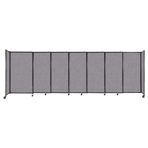 """StraightWall Sliding Portable Partition 15'6"""" x 5' Cloud Gray Fabric"""