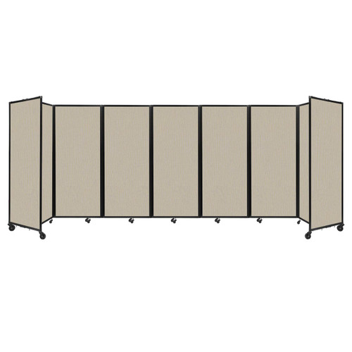 """Room Divider 360 Folding Portable Partition 19'6"""" x 6'10"""" Sand Fabric"""