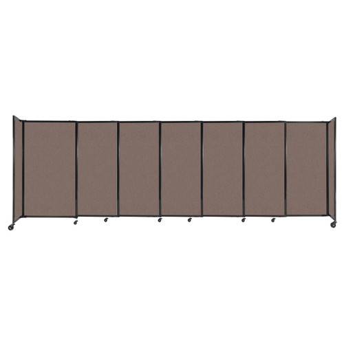 """StraightWall Sliding Portable Partition 15'6"""" x 5' Latte Fabric"""