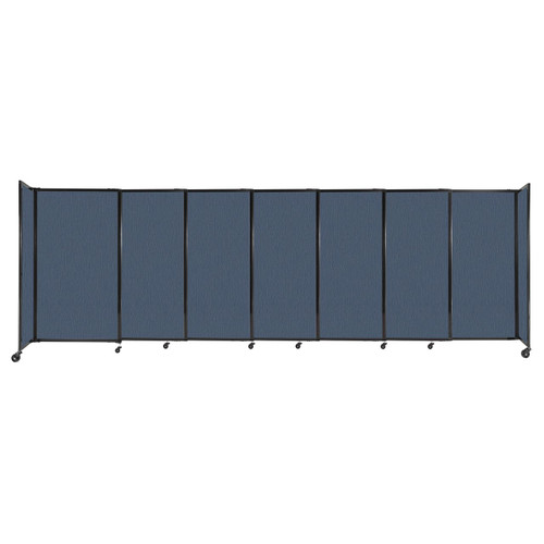 """StraightWall Sliding Portable Partition 15'6"""" x 5' Ocean Fabric"""