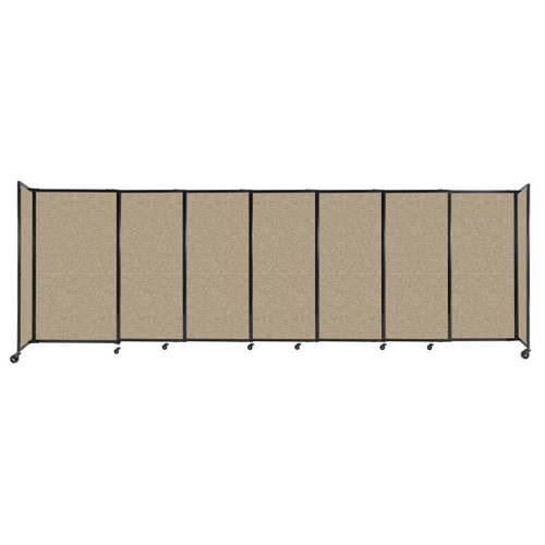 """StraightWall Sliding Portable Partition 15'6"""" x 5' Rye Fabric"""