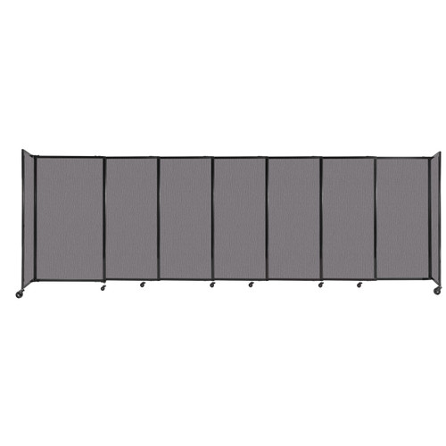 """StraightWall Sliding Portable Partition 15'6"""" x 5' Slate Fabric"""