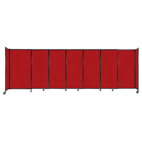 """StraightWall Sliding Portable Partition 15'6"""" x 5' Red Fabric"""