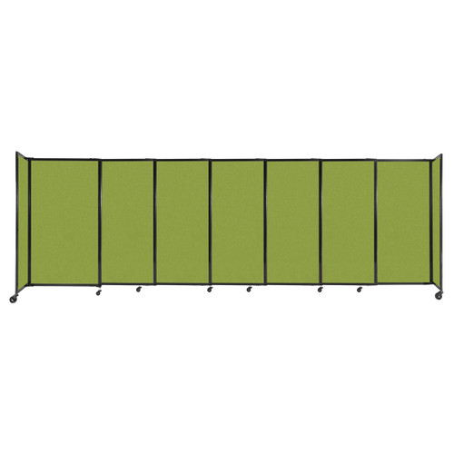 """StraightWall Sliding Portable Partition 15'6"""" x 5' Lime Green Fabric"""