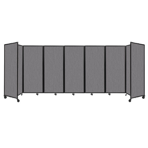 """Room Divider 360 Folding Portable Partition 19'6"""" x 6'10"""" Slate Fabric"""