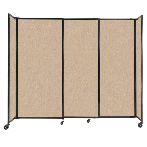 """StraightWall Sliding Portable Partition 7'2"""" x 6' Beige Fabric"""