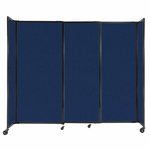 """StraightWall Sliding Portable Partition 7'2"""" x 6' Navy Blue Fabric"""