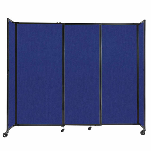 """StraightWall Sliding Portable Partition 7'2"""" x 6' Royal Blue Fabric"""